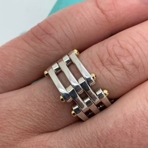 Tiffany & Co.925 750-18 KT Ring Size 7.5